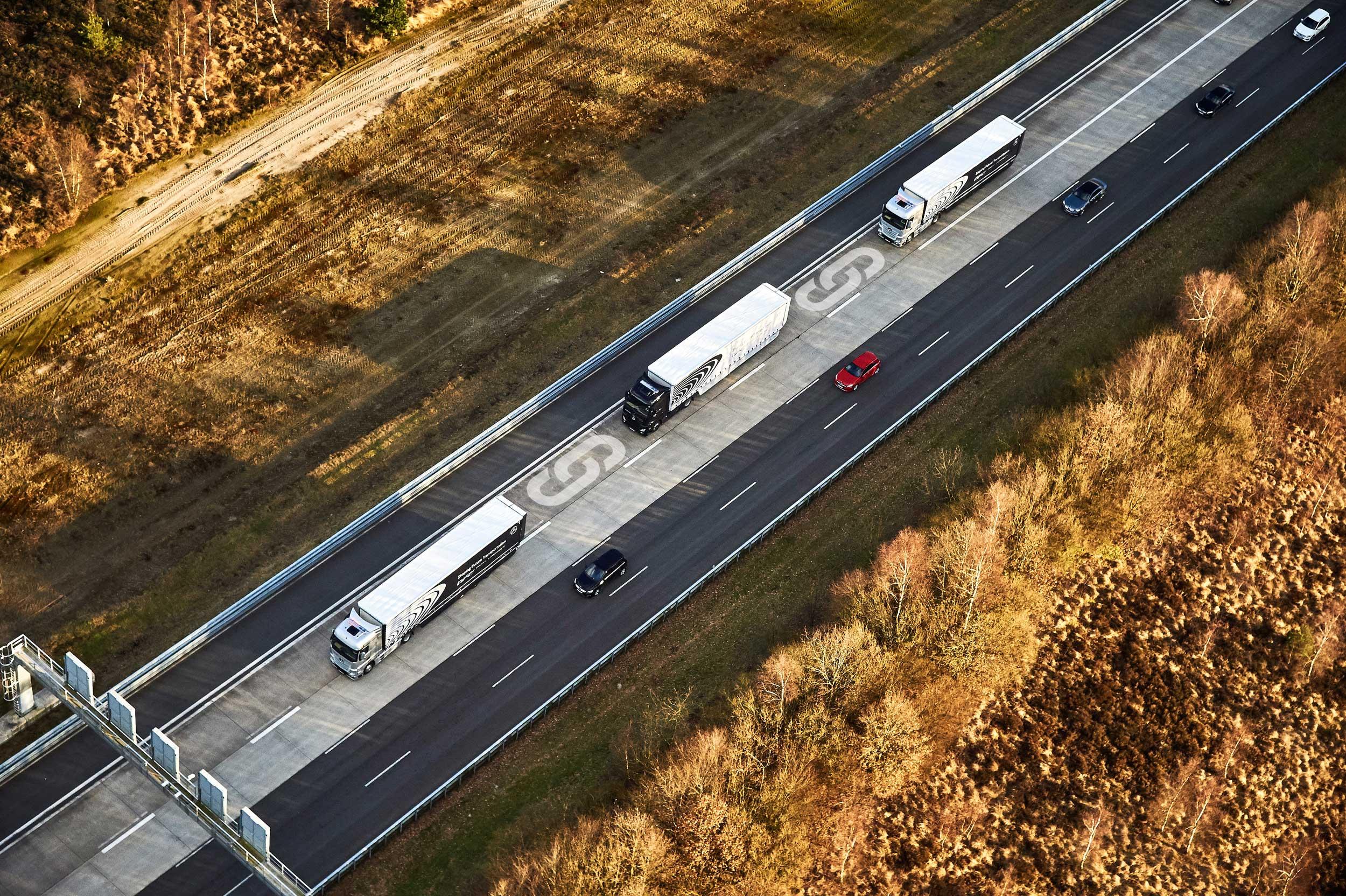 Infografiken | Platooning | Autonomes Fahren | Daimler Trucks